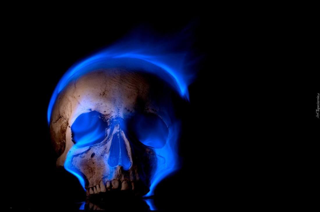 Crâne flamme bleue
