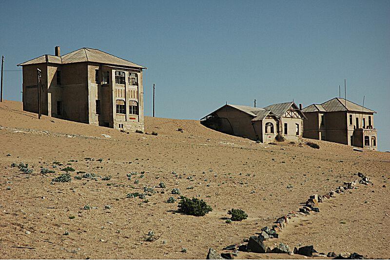 ville engloutie sable